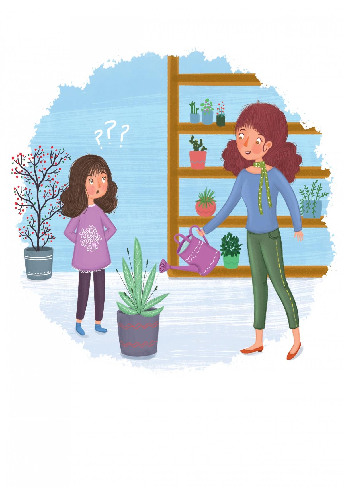 puzzle illustration for a children's magazine